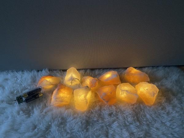 Kristalllichterkette batteriebetrieben (warm) LED